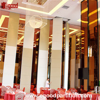 pulleys sliding type folding and sliding partition door moving walls for hotel