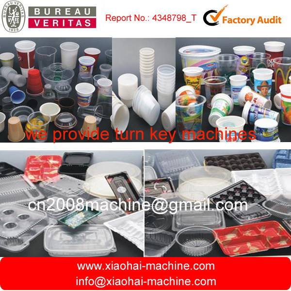2016 HAS VIDEO CK660 Disposable plastic cup making machine Price for thermoforming Juice Cup , water Cup
