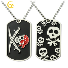 No Mold Fee Skullcandy Zinc Alloy Metal Military xvideo Dog Tags