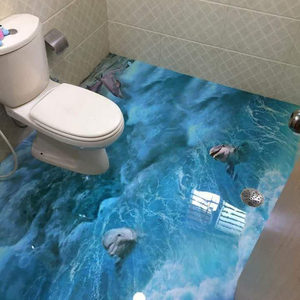 3d Bathroom Floor 2 Part Epoxy Sealer 3d Epoxy Floor Resin Epoxy Clear Coat for Concrete Floor Paint