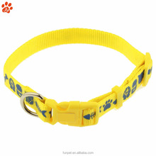 Dog Collar With Plastic Buckle Custom Personalized Logo Nylon