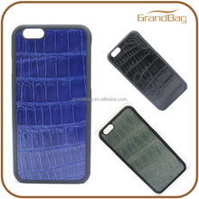 luxury crocodile leather phone case cell phone accessory for iphone 6/6s