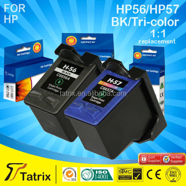 Hot selling remanufactured ink cartridge for HP56/HP57 compatible for HP 5150 printer