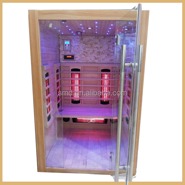 Germany Series lifestyles latest low EMF carbon fiber heaters 2 person infrared sauna,dry and steam sauna