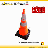 TC109 CE Collapsible Road Warning LED Light Traffic Cone