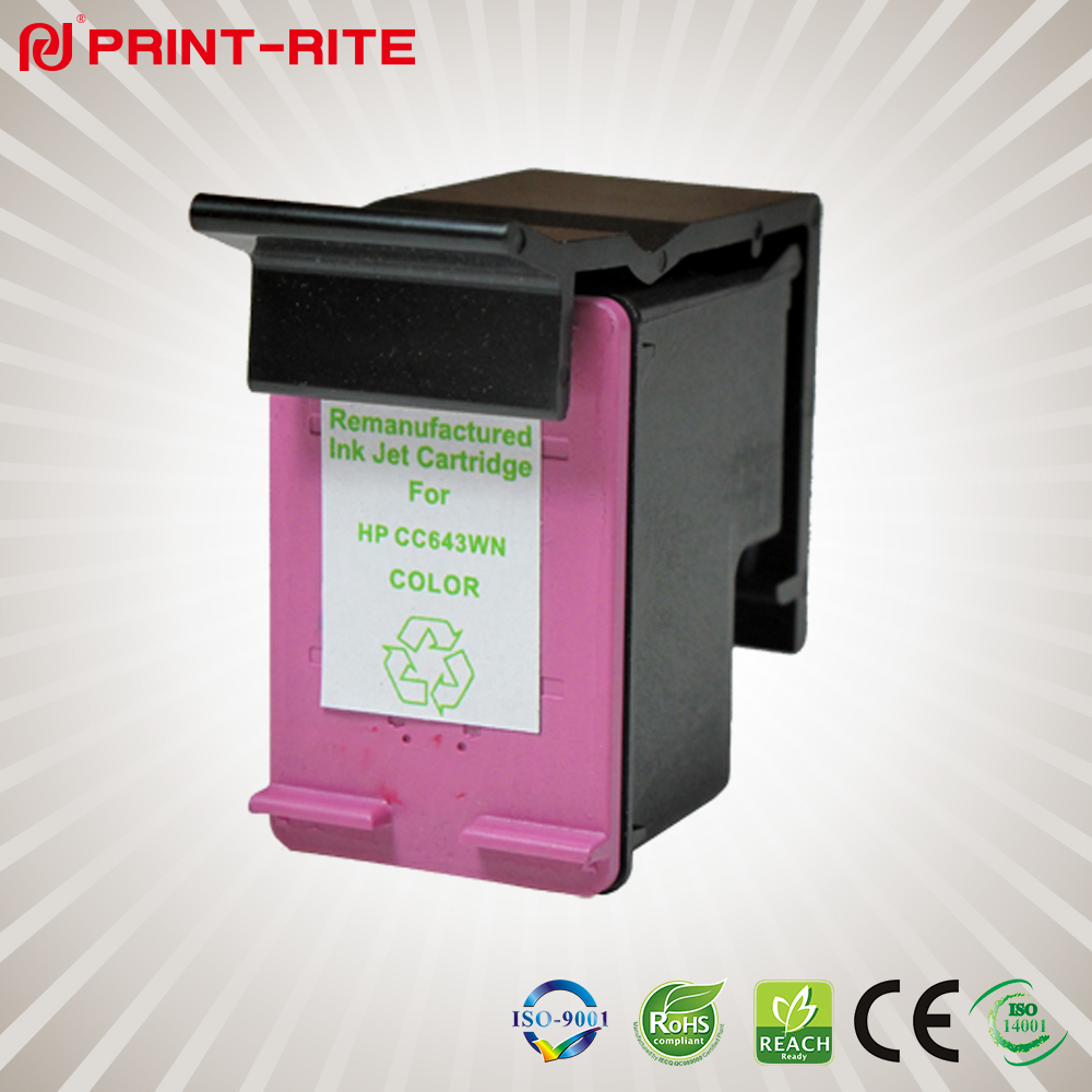 Remanufactured Color Inkjet Cartridge CC643WN for HP printer inkjet ink