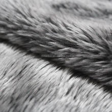 100% Polyester long pile curly artificial faux fur fabric