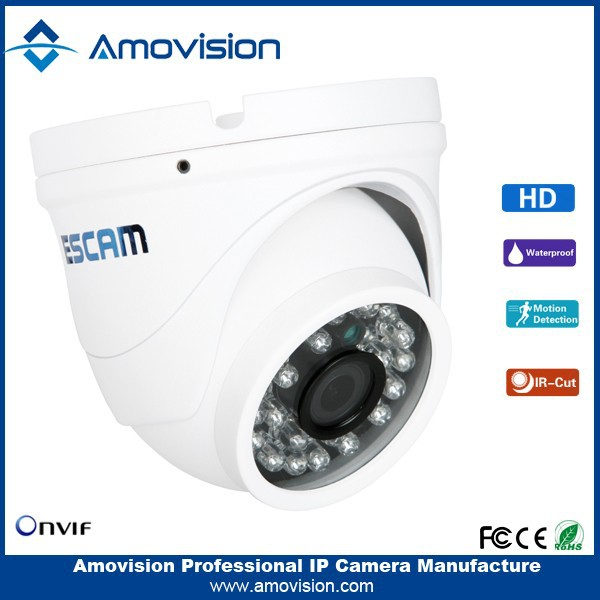 "ESCAM 2015 1/4""CMOS Peashooter QD520 1.0MP Onvif P2P Multiple nPeashooterwork monitoring: Web viewer, CMS smallest ip camera"