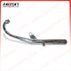 HAISSKY motorcycle engine parts High Quality Motorcycle Spare Parts GN125 Exhaust Pipe