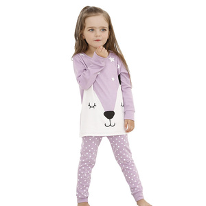 2-7 Years Girls Nighty Sleepwear Wholesale 2017 New Arrival Kids Spring Clothes