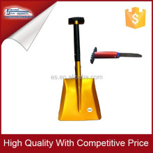 Aluminum collapsible shovel with Saw in handle
