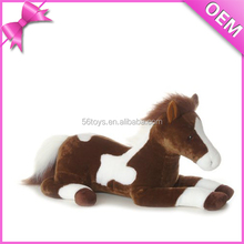plush stuffed horse toy in sitting shape withe clothes