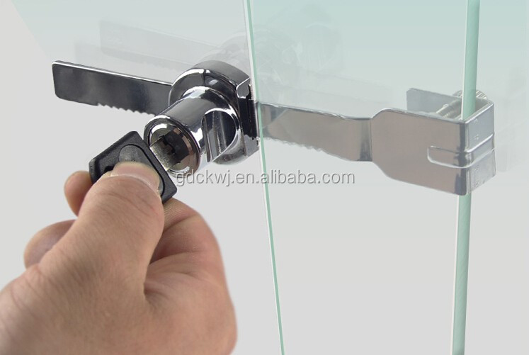 Furniture Locks 328 Zinc Alloy Shopwindow Glass Door Locks With Keys