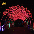 Waterproof christmas led arch light for outdoor street decoration