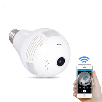 Wireless WiFi Light Bulb Camera P2P IP Network Camera