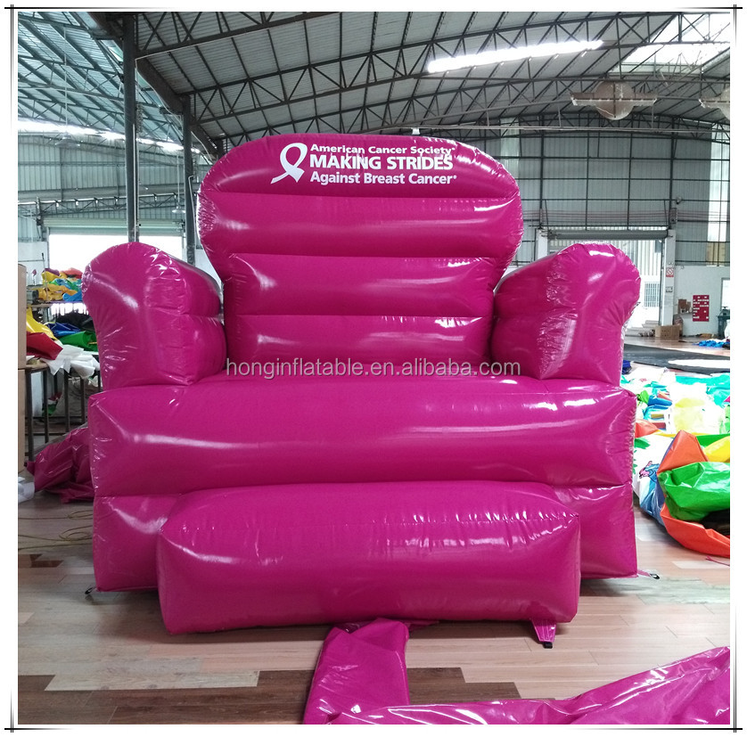 Outdoor Advertising Inflatable Giant Sofa For Promotion, Inflatable Pink Sofa