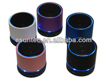 Portable mini super bass bluetooth wireless speaker with LED light, BTS-03