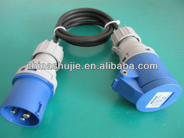 2013 cixi new CE/NFwith 3pin industrial outlet extension cord