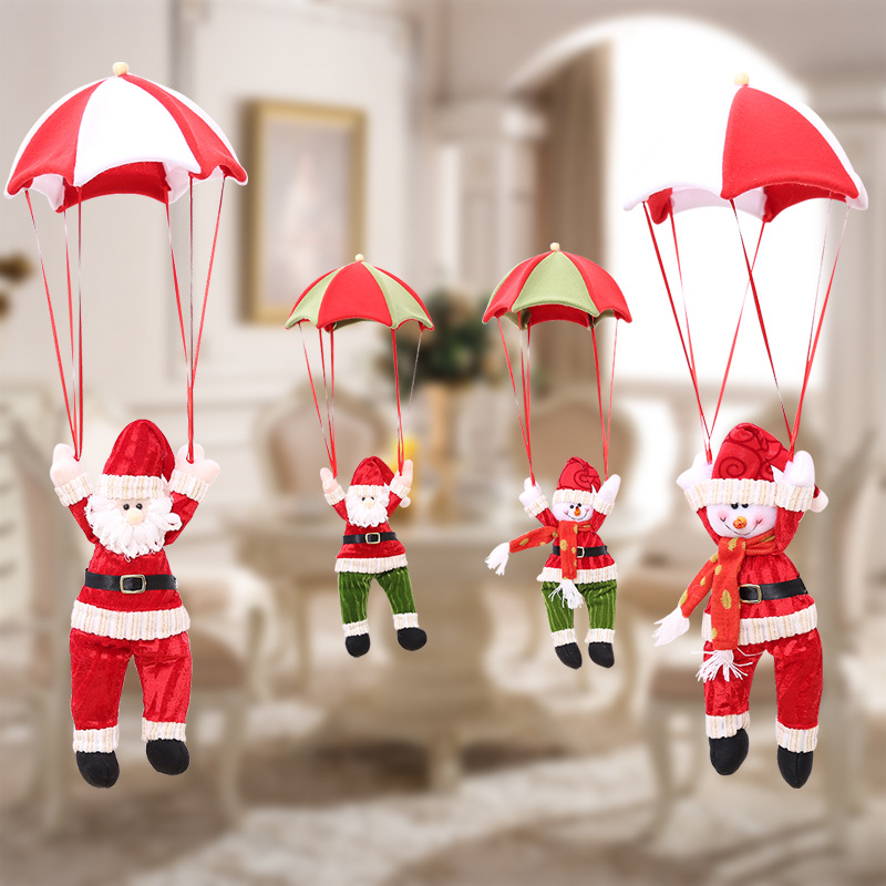 Christmas tree decoration Santa Claus Toy Doll with Parachut Wholesale