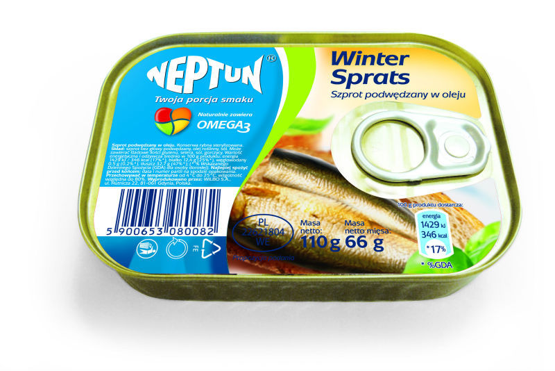WINTER sprats - smoked sprats in tomato sauce