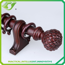 wooden curtain pole for window