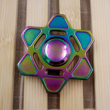 2017 New Colorful Fingertip Gyro Boys Girls Hexagonal Hands Spinner decompression gyro hand spinner fingertip gyro