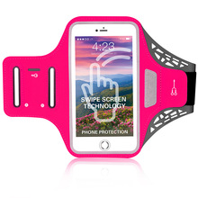 Outdoor sports adjustable mobile phones pouch waterproof armband arm bag with earphone hole and card slot for iPhone X