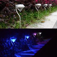 Hot Outdoor Garden LED Diamond Light Solar Powered RGB Diamond Landscape Light Lawn Lamp Solar Yard Light New