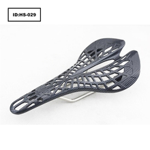 Super Light Mountain Road Fixed Gear Bicycle Seat Hollow Carbon Fiber Pattern Saddle Factory Direct Sales