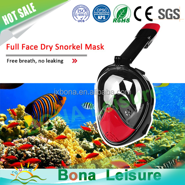 water sports equipment Bona diving mask full face snorkel mask with fins h2o ninja snorkel mask for go pro camera