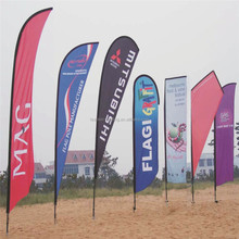 Promotional Custom Flying Banner Teardrop/Feather Beach Flag