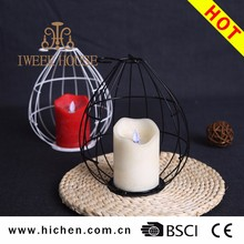 Remote Control LED Moving Flame Filament Candle With Candle Holder