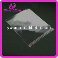 China yiwu color opp plastic resealable clear self adhesive seal plastic bag