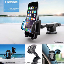 universal silicone car vehicle dashboard mount windshield mobile phone double suction cup bracket kit holder mobile holder abs