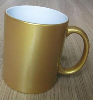 Sublimation11 oz. gold pearl finish mug