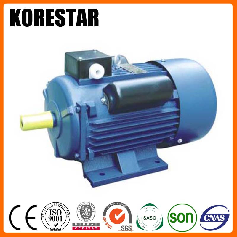 Korestar YC Series Single Phase Cast Iron Housing Asynchronous AC Induction 220 v electric motor