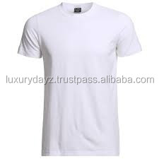 Plain white men t shirt