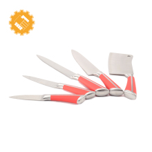 Professional chef master knives 3cr14 stainless steel 5pcs color swiss line knife set
