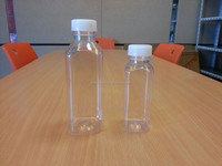 250ml and 500ml french clear square plastic juice bottles