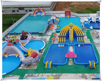 Guangzhou Manufacturer Cheap Outdoor Giant Inflatable Water Amusment Park Games Equipment Aqua Inflatable Water Park