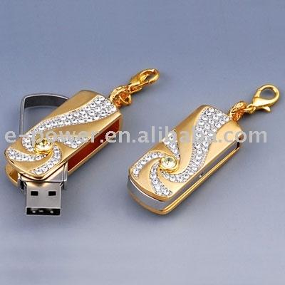 Fashionable and Luxury Diamond USB Flash Drive