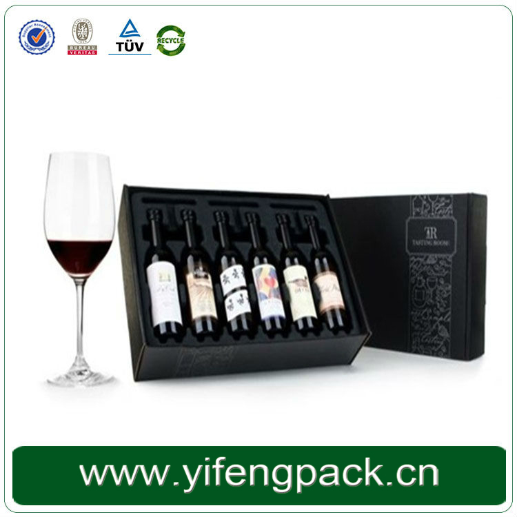 Costmize 6 Pack Beer Carrier corrugated cardboard wine shipping box
