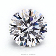 1.5 carats H&A cut moissanite diamond clear white 7.5mm synthetic moissanite price per carat