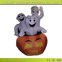 New designed cute halloween inflatable pumpkin decoration for your choice