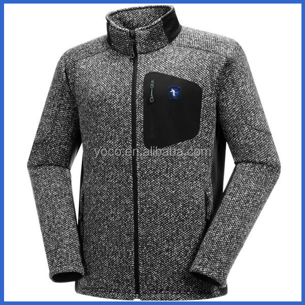Mens outdoor wear clothing polar fleece jacket