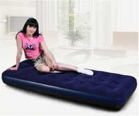 PVC Flocked Inflatable single air mattress