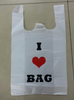Cheap biodegrdable disposable custom T shirt plastic bags
