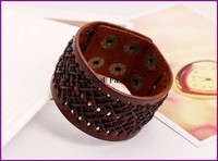 Europe and America new Cowhide bracelet wide leather rub ancient