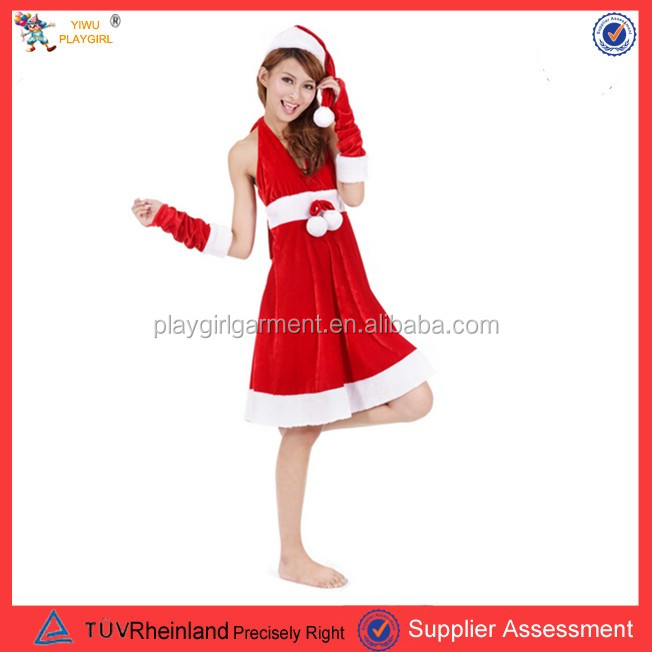 PGWC-0022 Christmas party sexy women costumes santa claus costumes