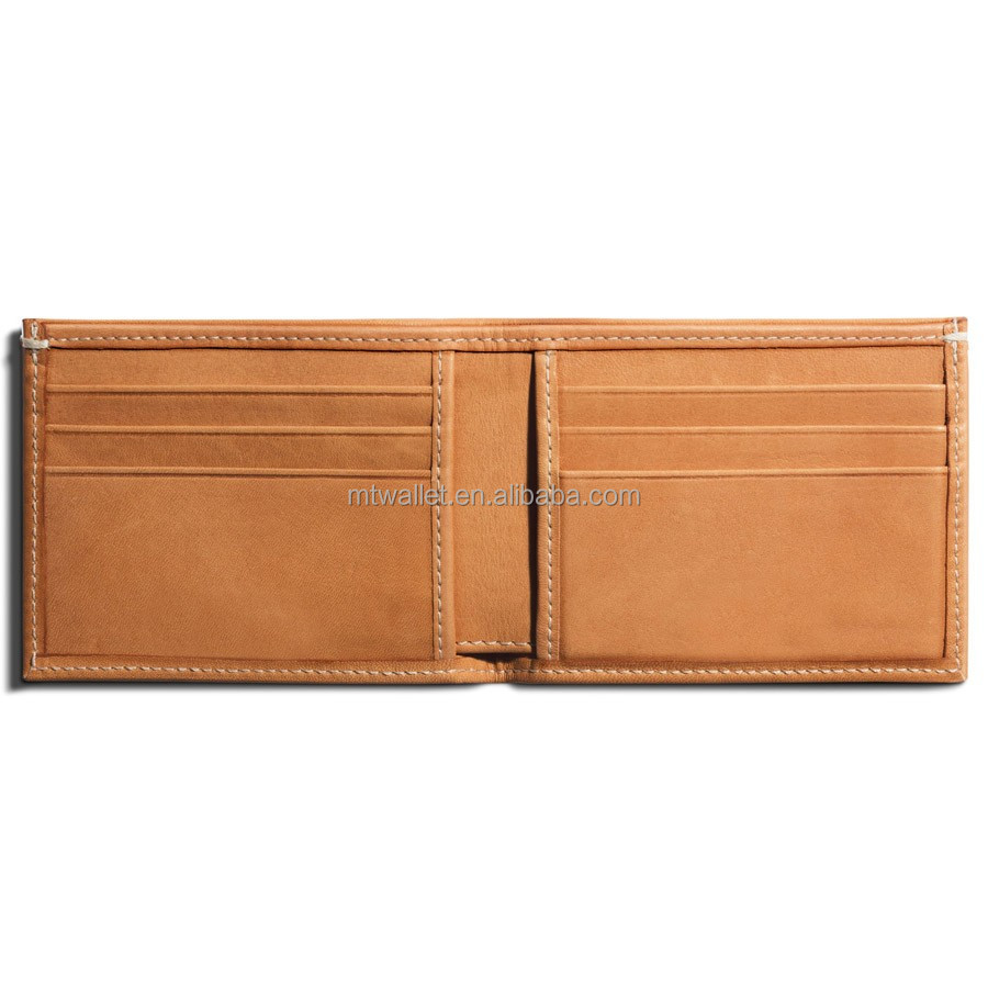 Italy Natural vegetable leather Slim Bifold wallet